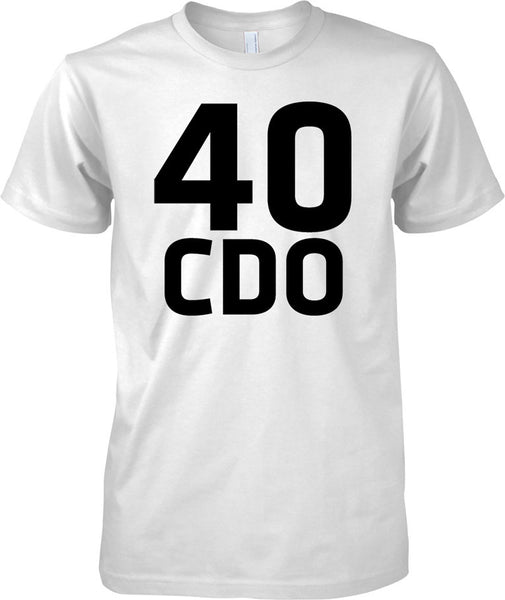 Licensed MOD -  Royal Marines 40 Cdo - Text - Mens T Shirt