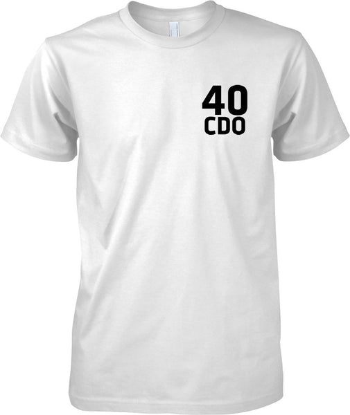Licensed MOD -  Royal Marines 40 Cdo - Text - Mens Chest Design T-Shirt