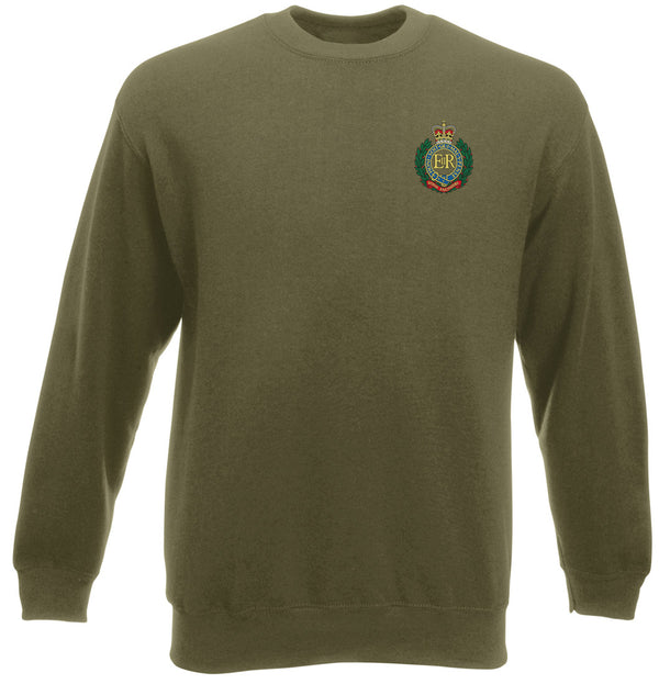 Military Online Royal Engineers RE Sappers Embroidered Logo Official British Army Full Zip Heavyweight Fleece Jacket