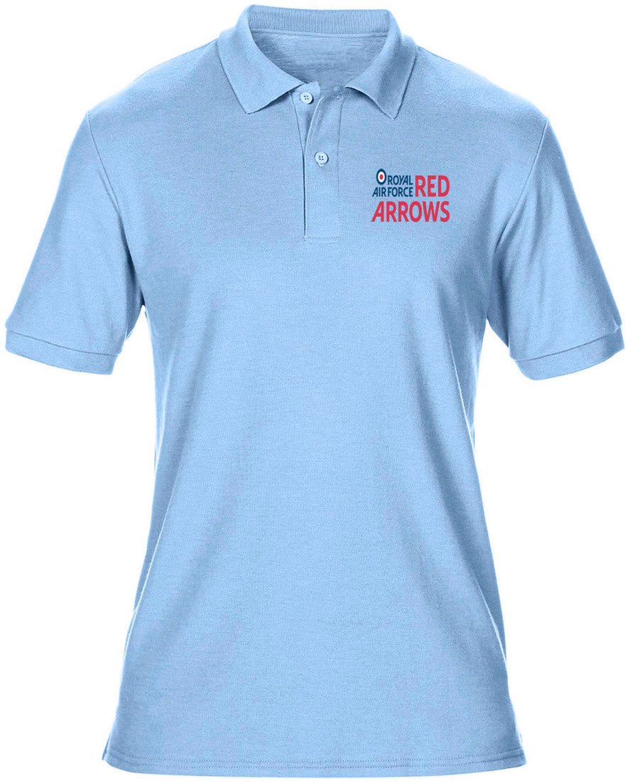 93bb0d7e7 RAF Red Arrows Logo - Official Royal Air Force Mens Polo Shirt -  Embroidered Logo