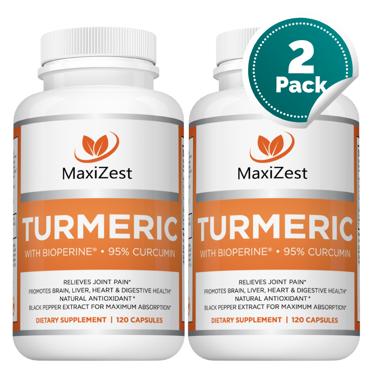 Organic Turmeric Curcumin with BioPerine® Multi-Buy Bundle 2-Pack