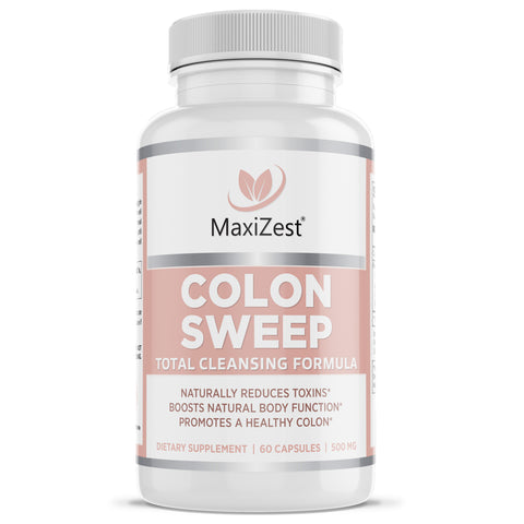 Colon Sweep Capsules - Detox & Cleanser for Weight Loss and Constipation Relief