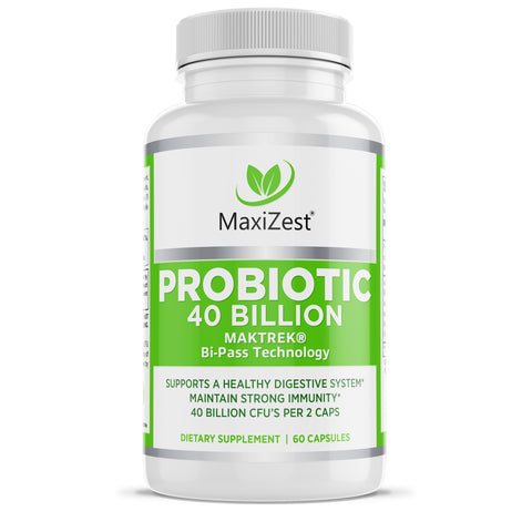 Probiotic Capsules with Maktrek® Bi-Pass Technology - 40 Billion CFUs