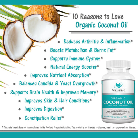 Extra Virgin Organic Coconut Oil Capsules Multi-Buy Bundle 3-Pack