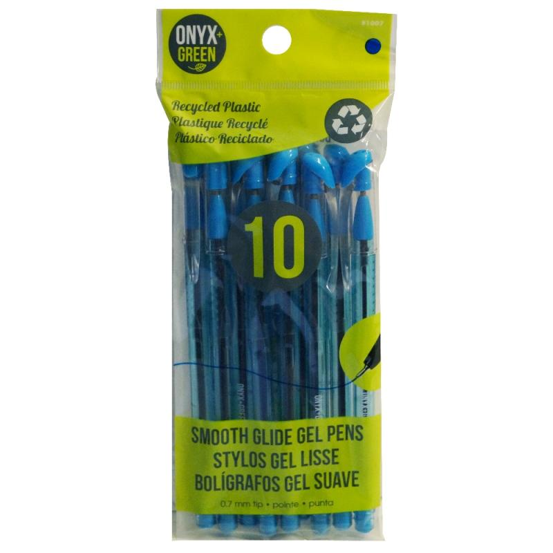 10pk Blue Gel Pen .7mm