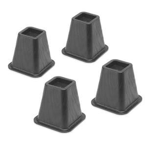 Whitmor Dorm Bed Risers, Black