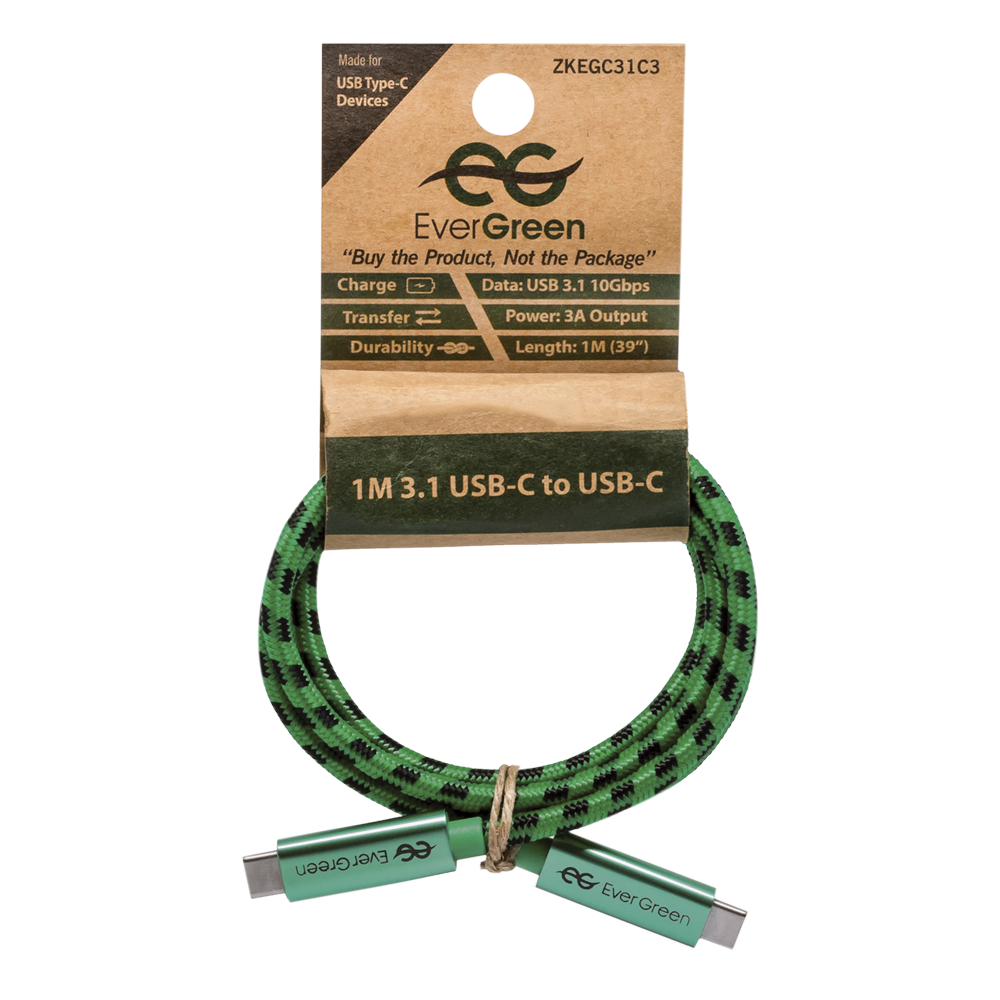 EverGreen 1M 3.1 USB-C to USB-C Cable