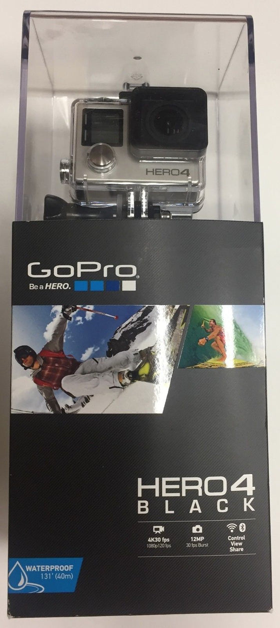 GoPro Hero4 BLACK 4K30 fps Camera CHDHX-401