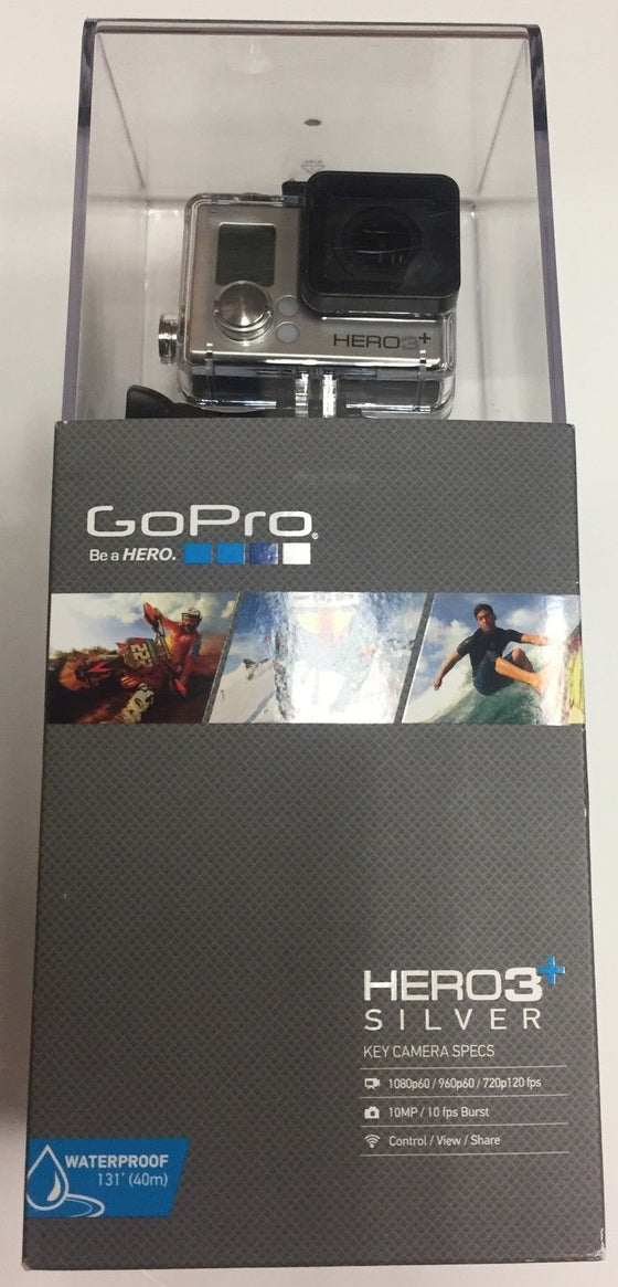 GoPro Hero3+ Silver 1080p60 Camera CHDHN-302