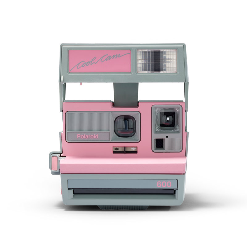 Pink and Grey Polaroid Cool Cam 600 Instant Camera Front view