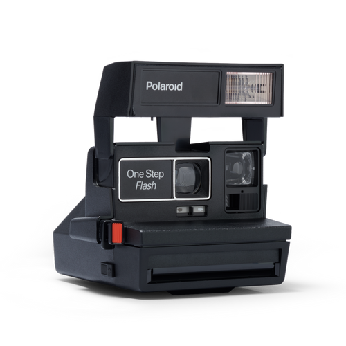 Black Polaroid Square 600 Instant Camera Front view