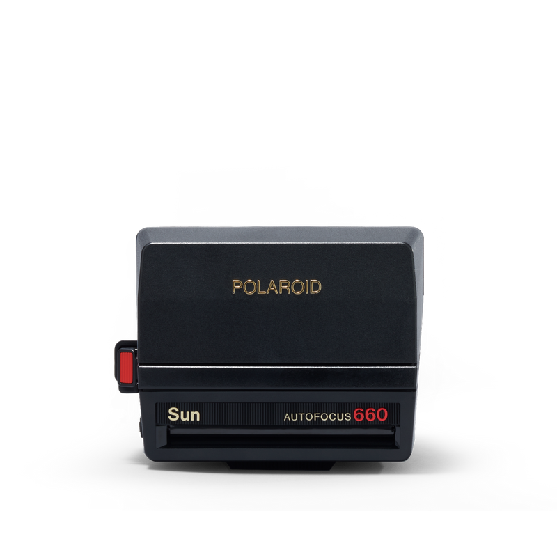 Black Polaroid Sun 660 Autofocus Instant Camera Closed view