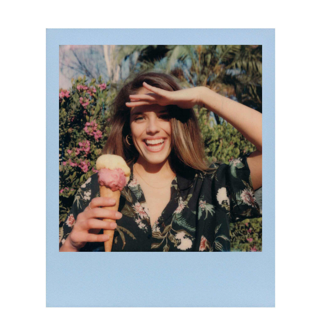 Color Film With Pastel Borders For Polaroid 600 Cameras
