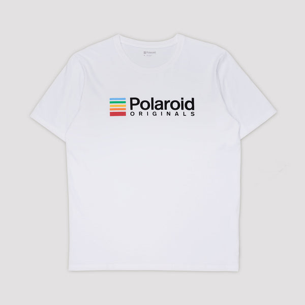 8bf580d9 Polaroid Originals T-Shirt - White with color logo