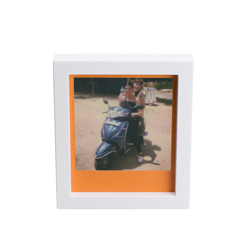 White Magnetic Polaroid Picture Frames Front view