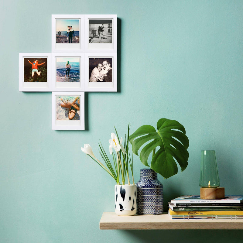 White Magnetic Polaroid Picture Frames in use
