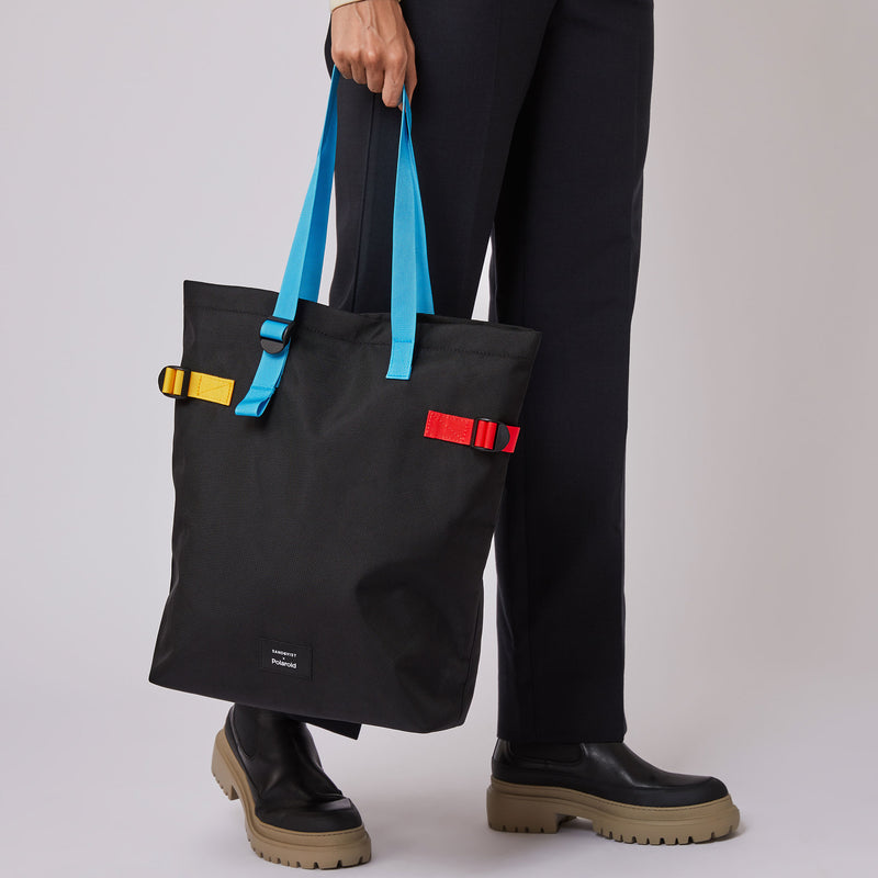 Sandqvist x Polaroid Collaboration – Stockholm Tote Bag with model