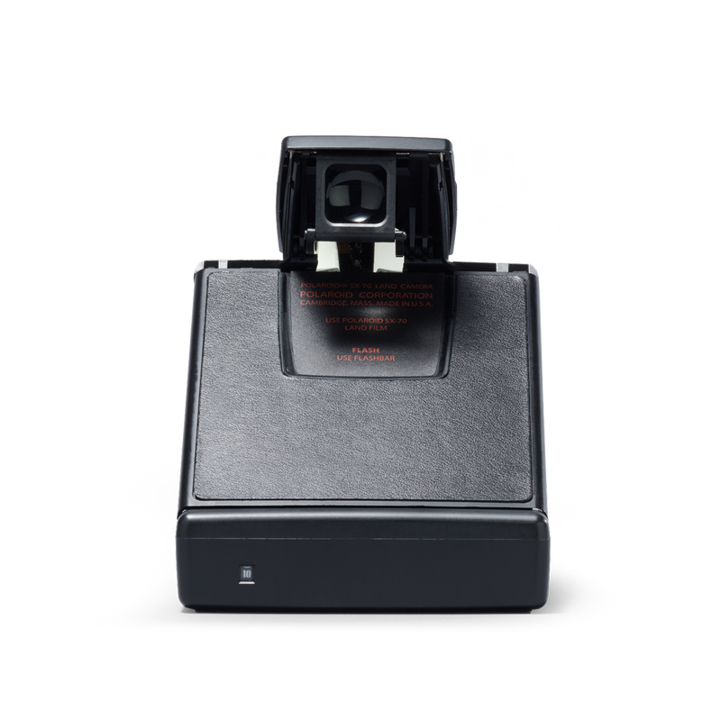 Black Polaroid SX-70 Instant Camera back view