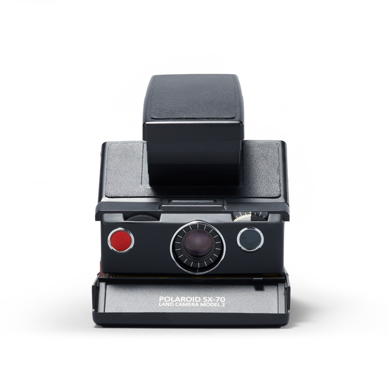 Black Polaroid SX-70 Instant Camera Front view