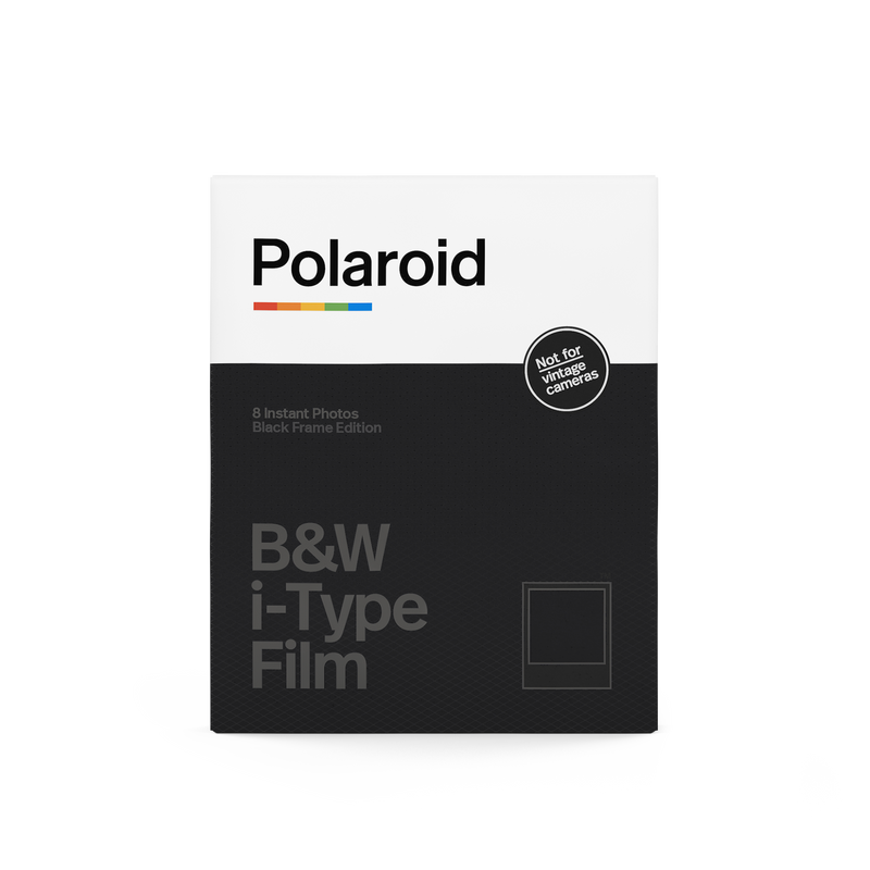 Polaroid Black & White i-Type Film Black Frame Edition Front