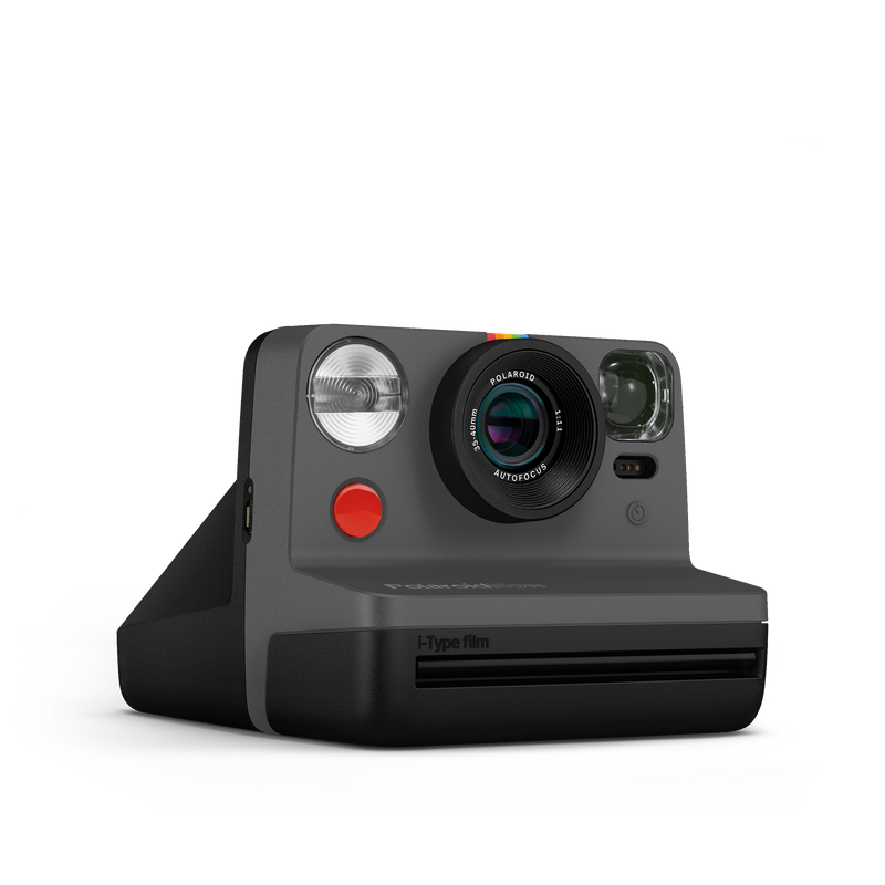 Polaroid Now Black Instant Camera Angle view