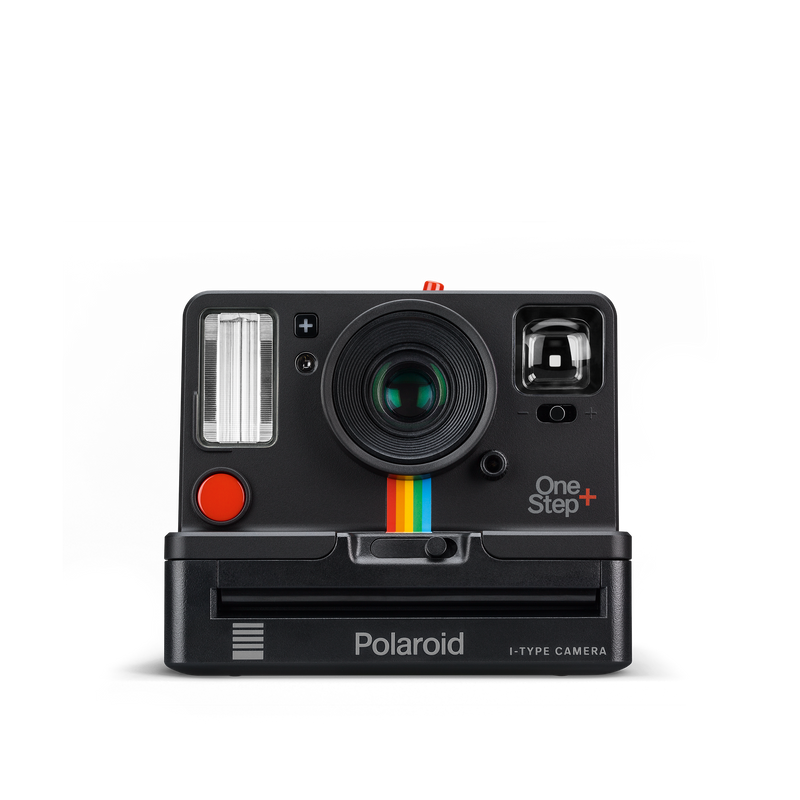 Black Polaroid OneStep Plus Instant Camera Front view