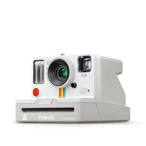 White Polaroid OneStep Plus Instant Camera Front view