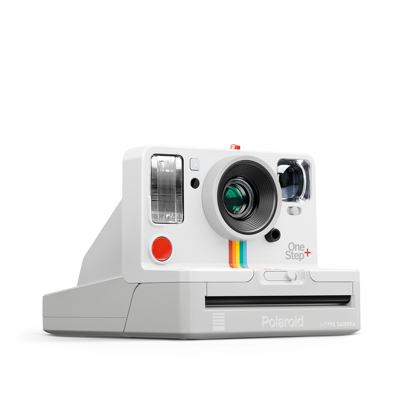 White Polaroid OneStep Plus Instant Camera Angle view