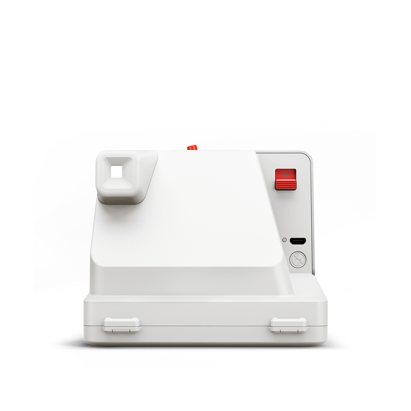 White Polaroid OneStep Plus Instant Camera Back view