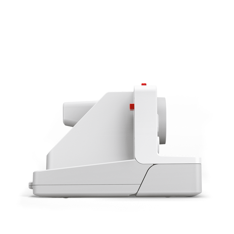 White Polaroid OneStep Plus Instant Camera Side view
