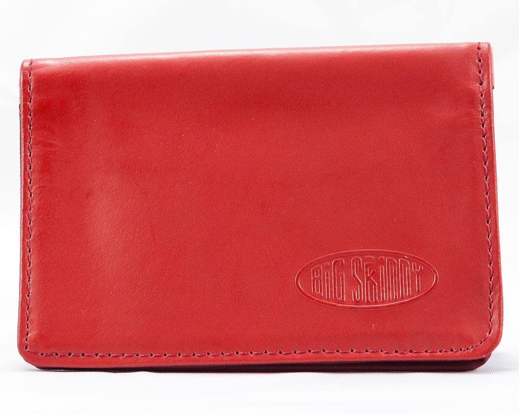 Leather Card Holder Red