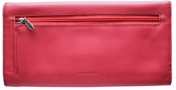 Leather Slimvelope Coral Pink