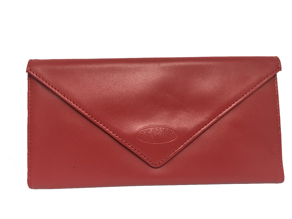 Leather Slimvelope Red