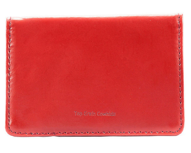 Leather Card Case Red