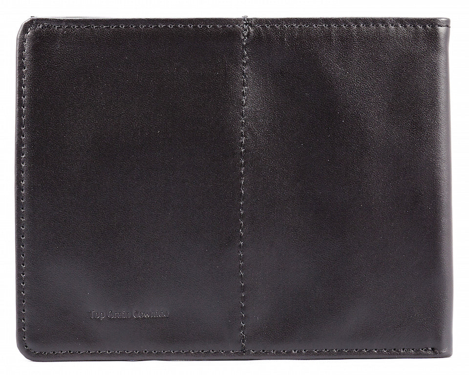 Rfid Blocking Leather Super Skinny Black