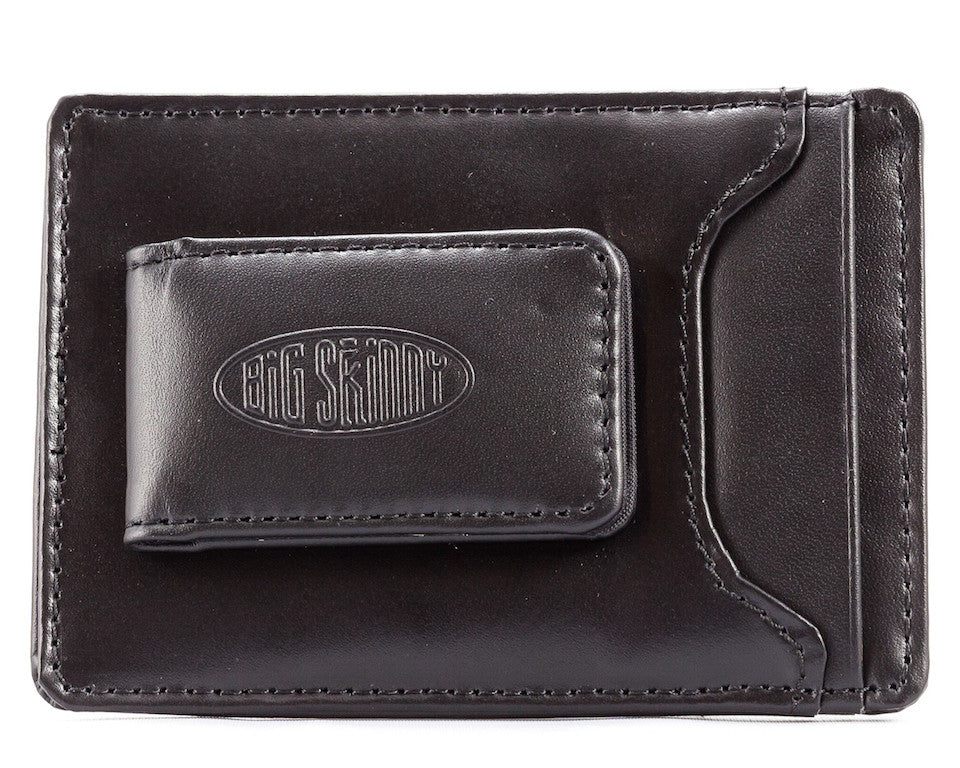 Leather Magnetic Money Clip Black
