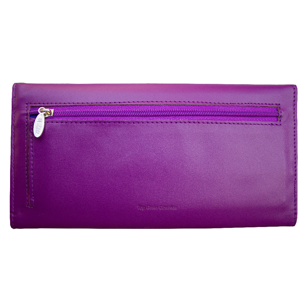 Leather Slimvelope Plum