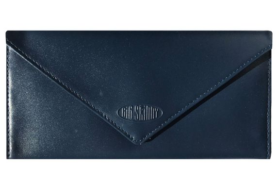 Leather Slimvelope Navy