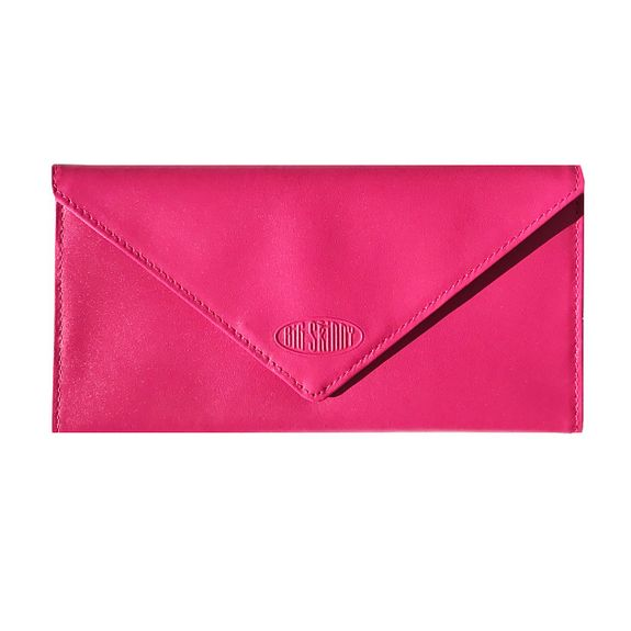 Leather Slimvelope Fuchsia