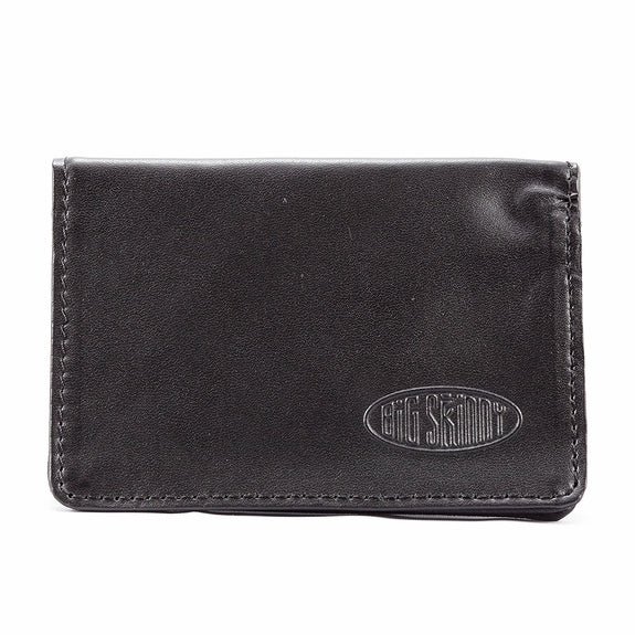 Leather Card Holder Black (ID Inside)