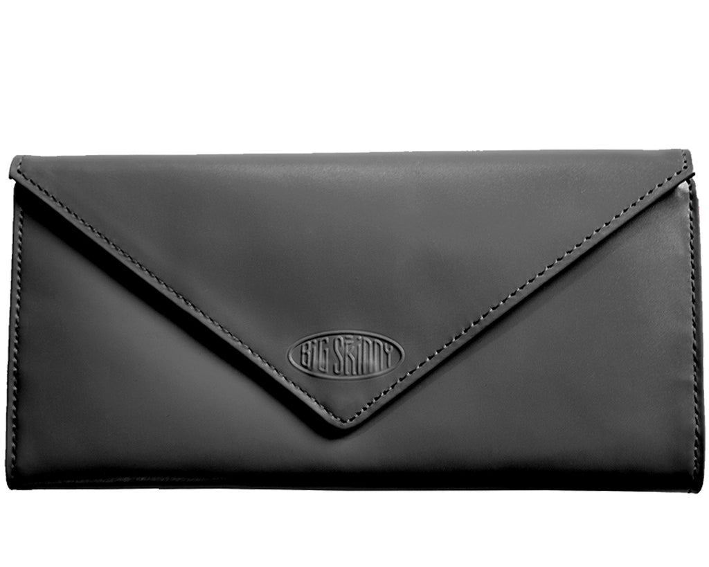 Leather Slimvelope Black