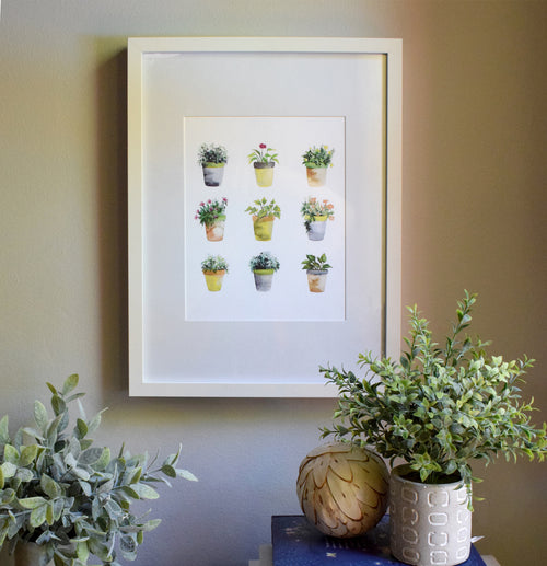 """Planted"" Flower Pots Art Print"