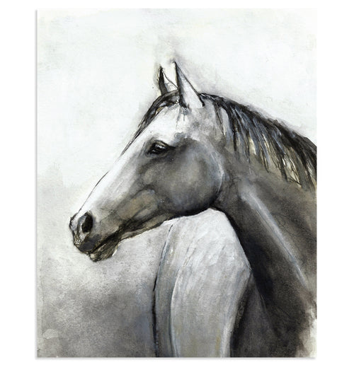 """Grey One"" Horse Art Print"