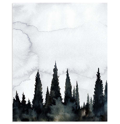 """Smoky Morning"" Landscape Art Print"