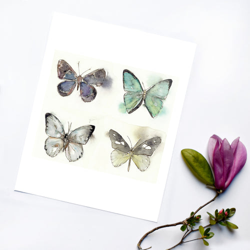 """We Are Four"" Butterfly Art Print"