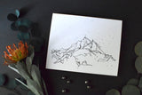 """Peaks of White Mountain"" Landscape Art Print"