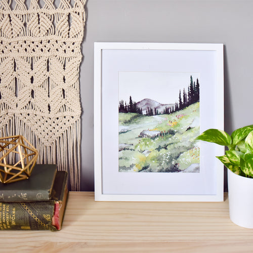 """Mountain Air"" Landscape Art Print"