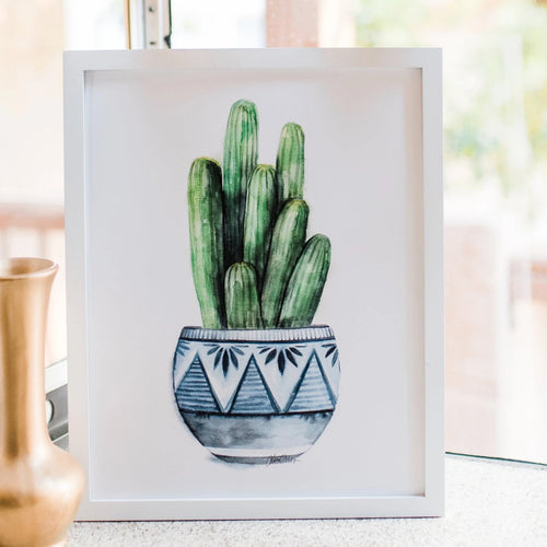 """Potted II"" Cactus Plant Art Print"