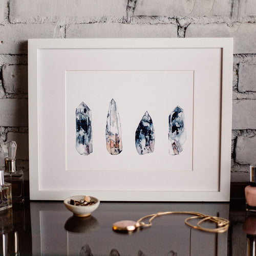 """Nepal Crystal Quartz"" Art Print"