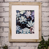 """Botanical Romance"" Modern Nature Art Print"